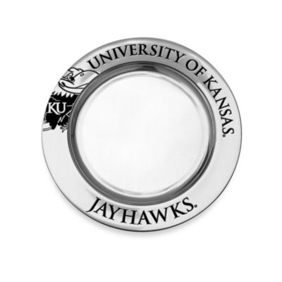 Wilton Armetale University of Kansas Small Round Tray