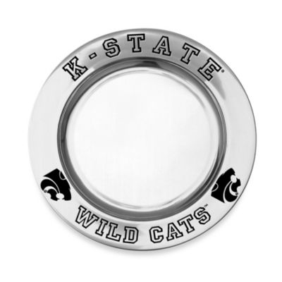 Wilton Armetale Kansas State University Small Round Tray