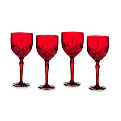 Marquis Brookside Red All-Purpose Wine Glasses (Set of 4)
