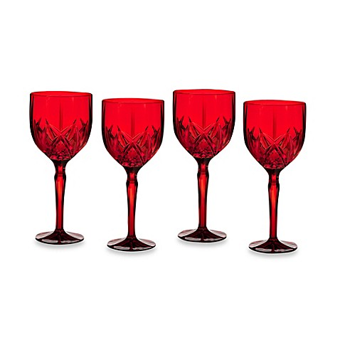 Buy marquis by waterford brookside all purpose wine glass in red set of 4 from bed bath beyond - Waterford colored wine glasses ...