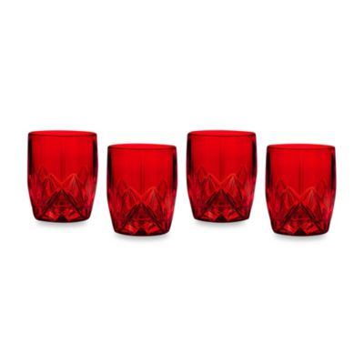 Marquis by Waterford Brookside Red Double Old-Fashioned Glasses (Set of 4)