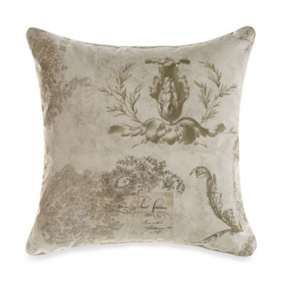 Vintage Floral Square Toss Pillow