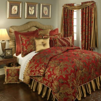Verona European Pillow Sham in Red