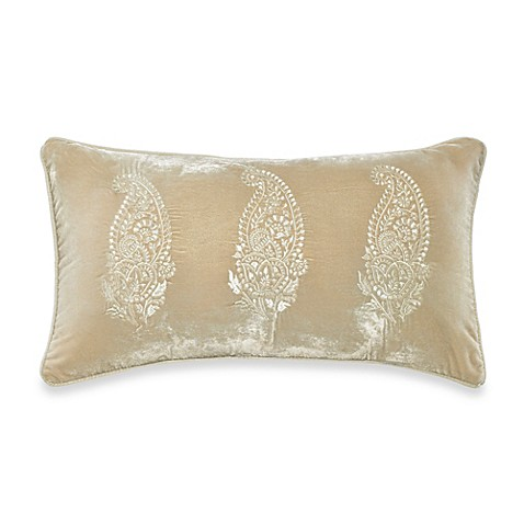 Throw Pillows Taupe : Velvet Oblong Throw Pillow in Taupe - Bed Bath & Beyond