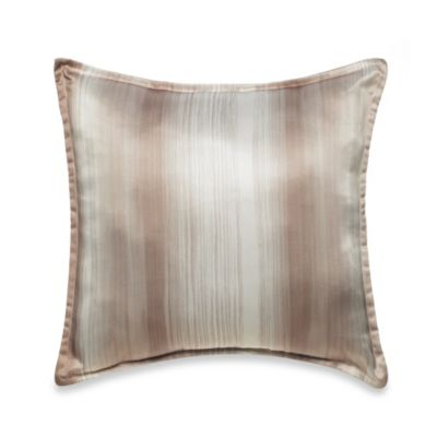 Velvet Square Toss Pillow in Taupe