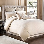 Velvet Bed Skirt in Taupe