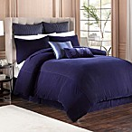 Velvet Bed Skirt in Indigo