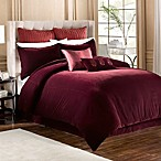 Velvet Bed Skirt in Bordeaux