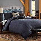Solid Chenille Duvet Cover in Indigo