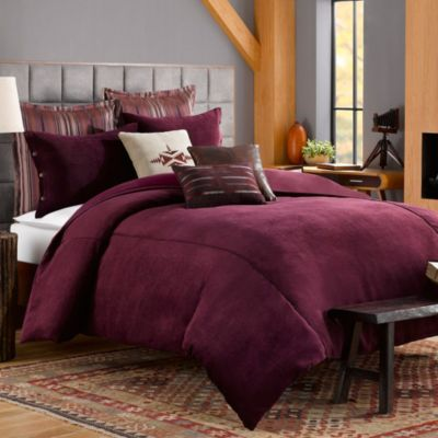 Solid Chenille Twin Duvet Cover in Purple