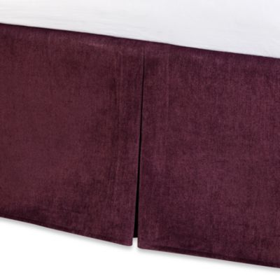 Solid Chenille Twin Bed Skirt in Purple