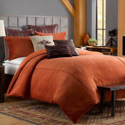 Solid Chenille Twin Duvet Cover in Picante