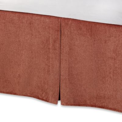 Solid Chenille Twin Bed Skirt in Picante