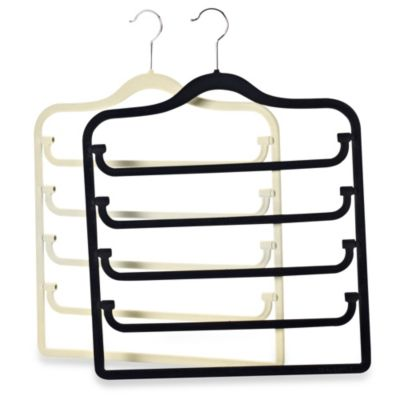 Real Simple® Slimline 5-Tier Swivel Pant Hanger in Black