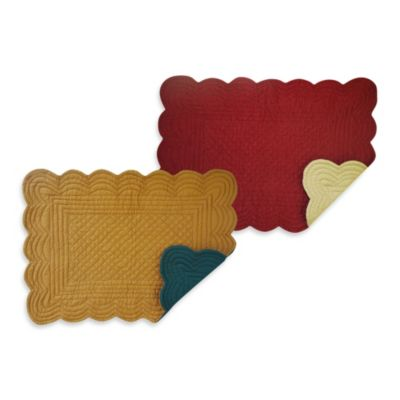 Solid 100% Cotton Quilted Placemats