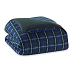 The Seasons®  Flannel Reversible Duvet Cover in Blackwatch/Forest Green