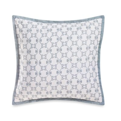 Laura Ashley® Eloise 14-Inch Square Pillow in Aqua