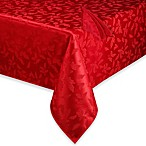Lenox® Holly Damask Red Tablecloth and Napkin