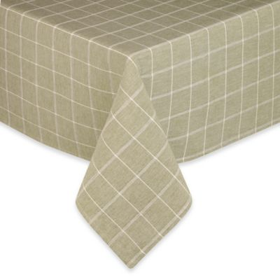 Sandscape 100% Cotton Woven 60-Inch x 120-Inch Tablecloth in Green