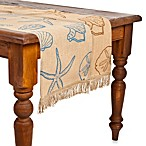 ecoaccents® Shell Burlap Table Runner