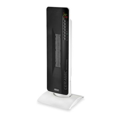 DeLonghi Flat Panel Tower Ceramic Heater with Multiple Heat Settings and Remote Control