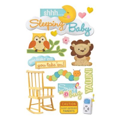 Baby Photo Albums > 3-D Shhh... Sleeping Baby Embellished Stickers