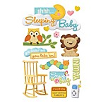 3-D Shhh... Sleeping Baby Embellished Stickers
