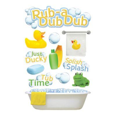 3-D Rub a Dub Dub Embellished Stickers