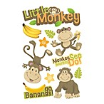 3-D Little Monkey Embellished Stickers