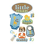 3-D Mommy's Little Man Embellished Stickers