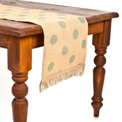 ecoaccents® Dot Burlap Table Runner