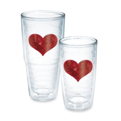 Tervis® Sequin Heart 16-Ounce Tumbler in Red