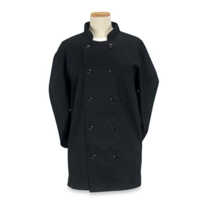 KitchenWears Large Professional Chef Coat in Black