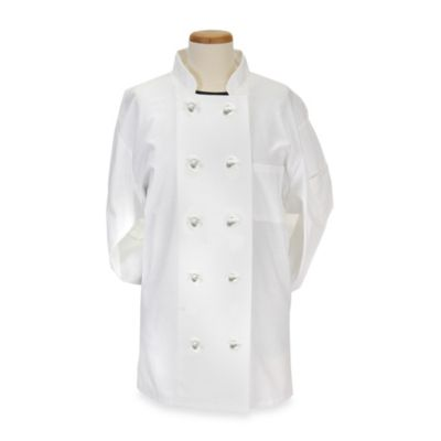 KitchenWears Small Executive Chef Coat in White