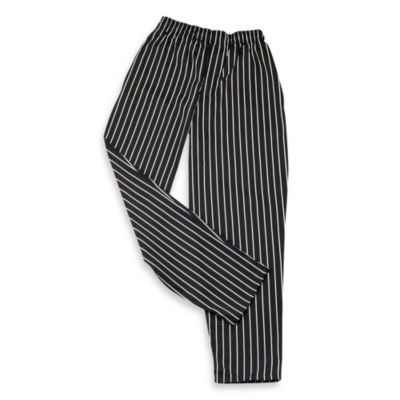 KitchenWears Small Chef Pants with a Chalk Stripe