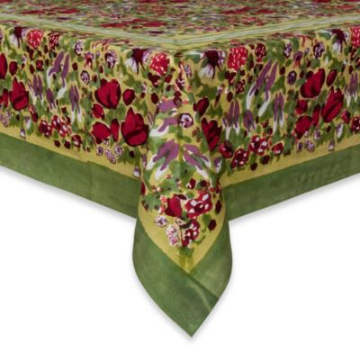 "Couleur Nature Jardine 90"" x 90"" Tablecloth"
