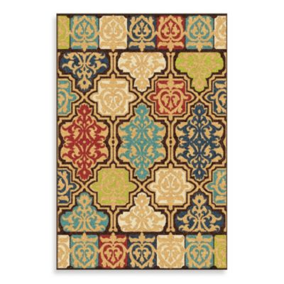 Orian Veranda Collection 7-Foot 8-Inch x 10-Foot 10-Inch Yandell Rug in Multicolor