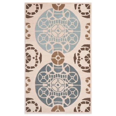 Safavieh Capri 3-Foot x 5-Foot Rug in Beige/Blue