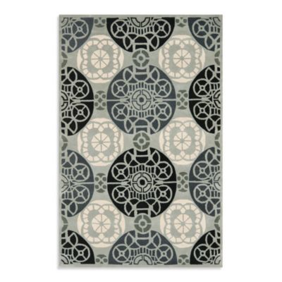 Safavieh Capri 4-Foot x 6-Foot Rug in Grey/Black