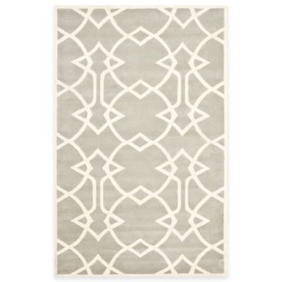 Safavieh Capri 8-Foot x 10-Foot Rug in Grey/Ivory