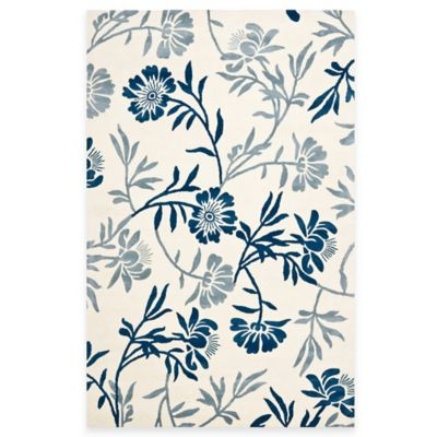 Safavieh Capri 3-Foot x 5-Foot Rug in Ivory/Blue