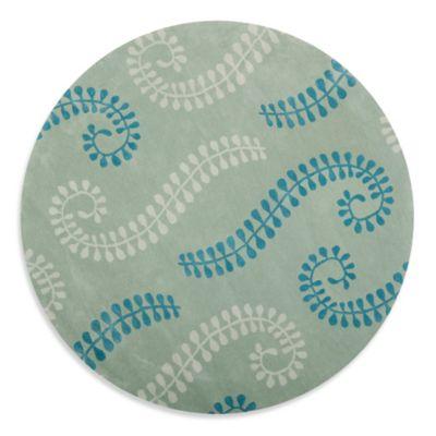 Safavieh Capri 7-Foot Round Rug in Silver/Blue