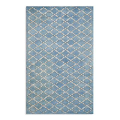 Safavieh Chatham 7-Foot Round Rug in Blue/Grey