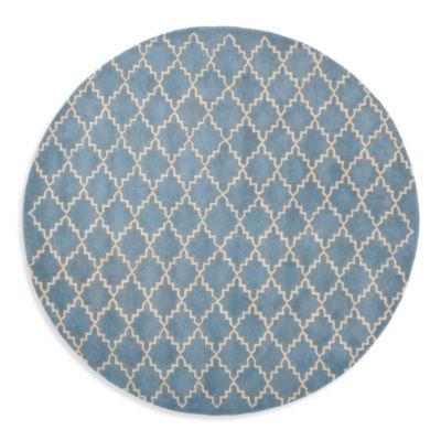 Safavieh Chatham 7-Foot Round Rug in Blue/Grey