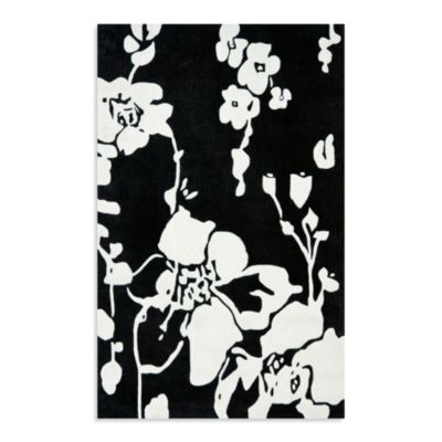 Safavieh Modern Art 4-Foot x 6-Foot Rug in Black/Ivory