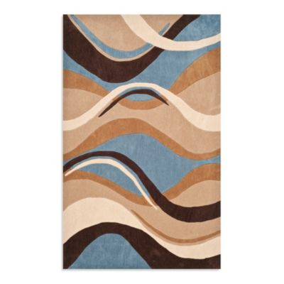 Safavieh Modern Art 5-Foot x 8-Foot Rug in Blue/Brown