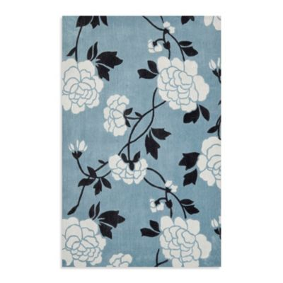 Safavieh Modern Art Rug in Blue/Cream