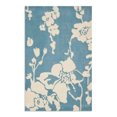 Safavieh Modern Art 8-Foot x 10-Foot Rug in Blue/Ivory
