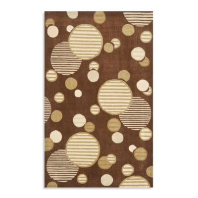 Safavieh Modern Art 2-Foot 6-Inch x 8-Foot Circles Runner in Brown