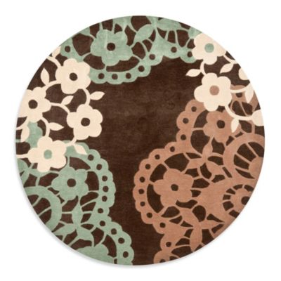 Safavieh Modern Art 7-Foot Round Rug in Brown/Multi